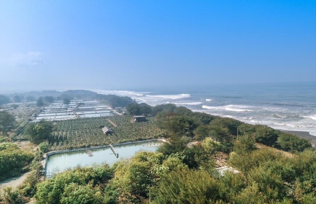 Pemandangan dari puncak Mercusuar Pantai Pandansari