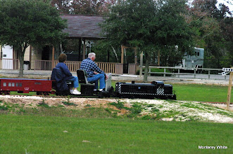 Photo: Virginia and Gil Freitag.   Note the caboose behind the loco.   2009-1127 HALS Anniversary Meet