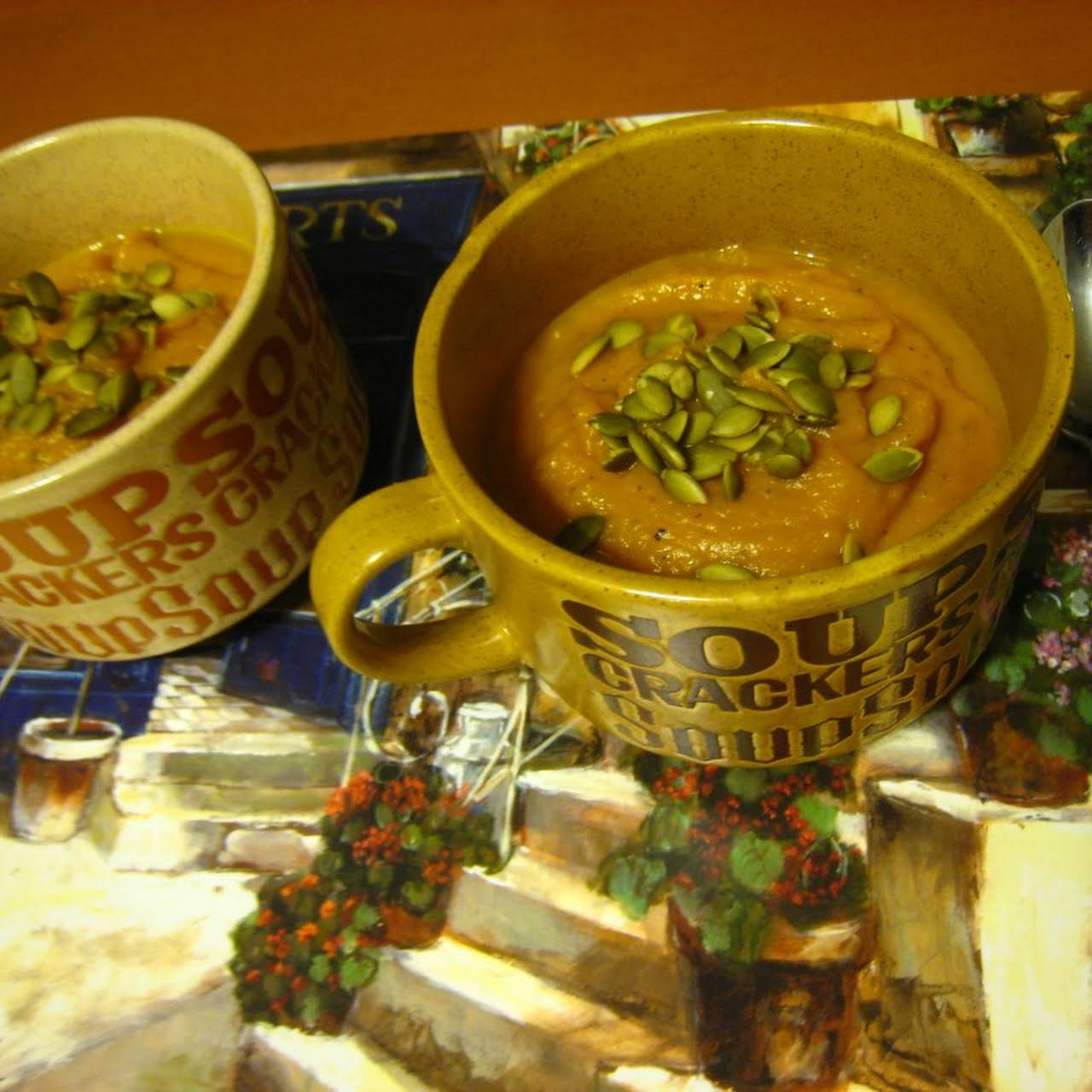 Roasted Butternut Squash, Carrot & Yam Soup (Dairy-free, gluten-free, vegan)