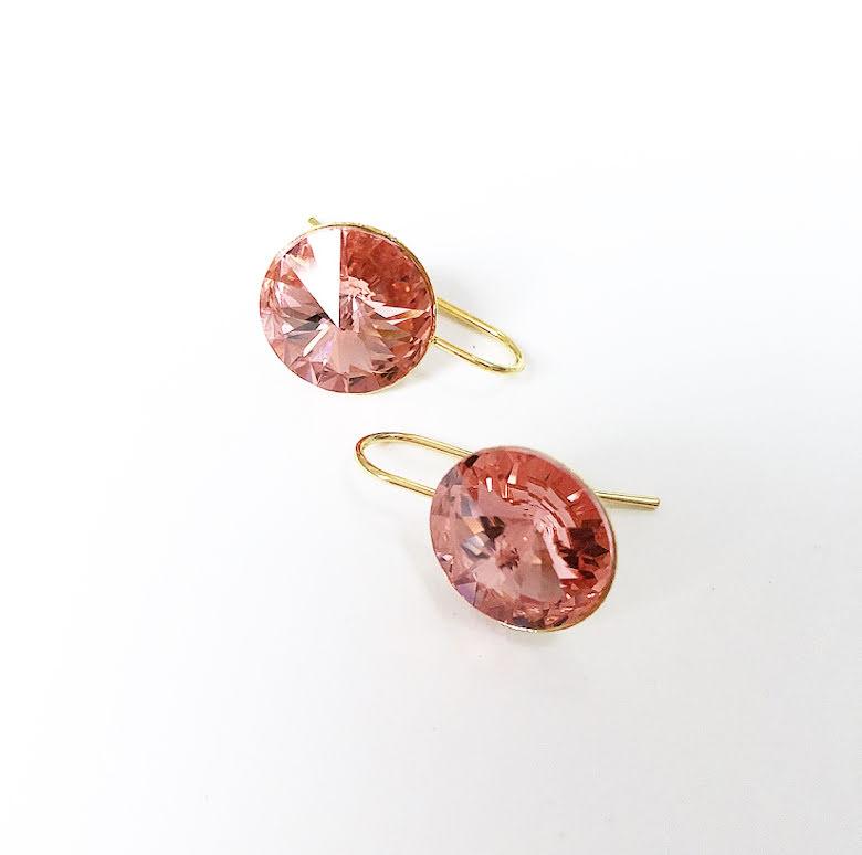Örhängen med Swarowski® kristaller Emma Rose Peach