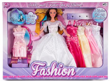 Judith Fashion med 6 klänningar och tillbehör, Brunett