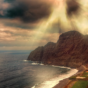 La Gomera island by Egon Zitter - Landscapes Mountains & Hills ( mountain, island, beach, sunset, gomera )
