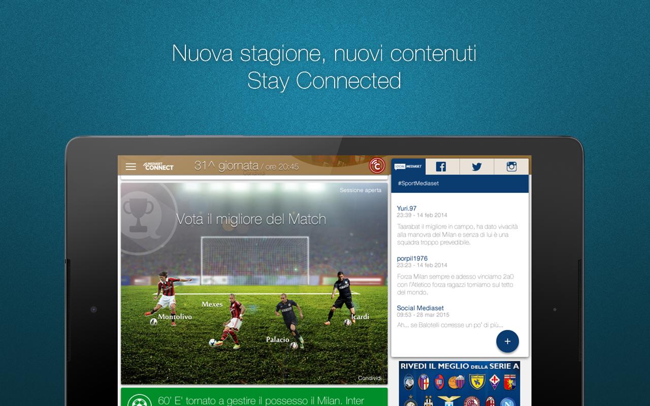 Mediaset Connect - screenshot