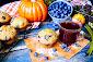 Blueberry Pumpkin Southern Comfort Muffins
