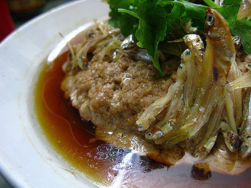 chinese, dried anchovies, pork, steamed pork, 小銀魚, 蒸肉餅, recipe