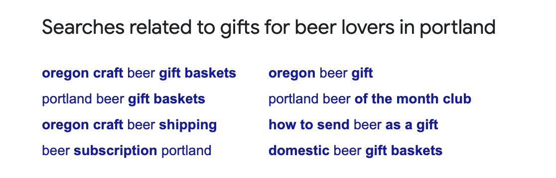 Searches results related to gifts for beer lovers.