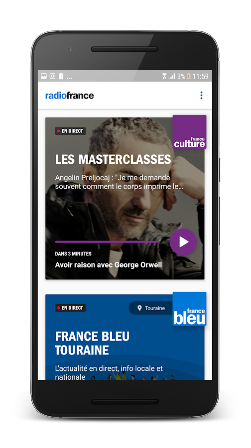 Radio France : actu, culture, musiques en direct – Capture d'écran