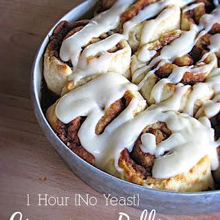 Quick & Easy {No Yeast!} Cinnamon Rolls