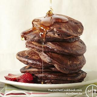 Gluten Free Vegan Chocolate Pancakes from The Undiet Cookbook.