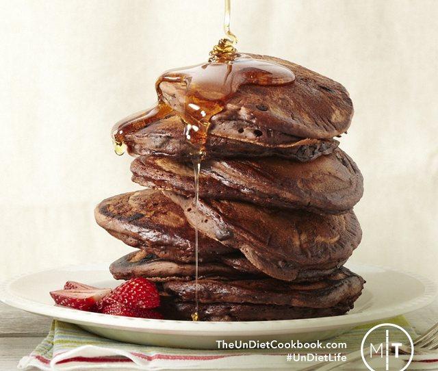 Gluten Free Vegan Chocolate Pancakes From the Undiet Cookbook Recipe