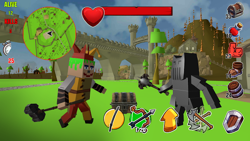 Télécharger Lord Hau!- Medival Pixel Battle Royale APK MOD (Astuce) screenshots 1