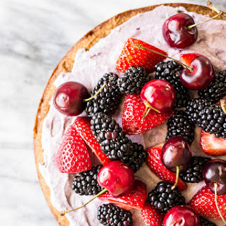 Coconut Cake with Blackberry-Coconut Whipped Cream and Mixed Berries (Gluten-Free)