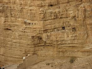 Photo: Isolation rooms dug in the rock…תאי התבודדות בתוך הסלע