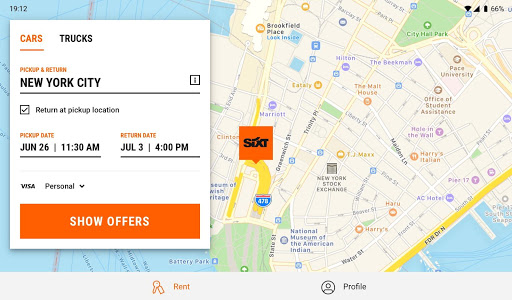 SIXT: Car rental, Carsharing & Taxi - screenshot