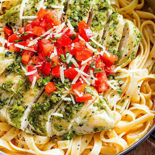 Pesto Chicken Pasta.