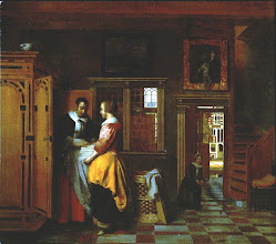 Photo: 1660's, a linen cupboard in an affluent home. Notice the steep spiral staircase and interior window.