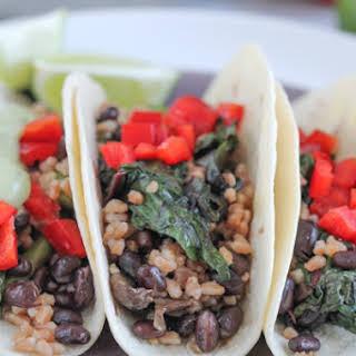 Vegetarian Farro Soft Tacos.
