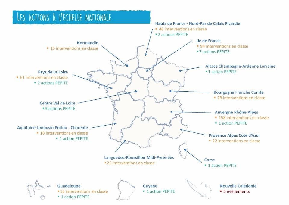Carte des interventions 2016