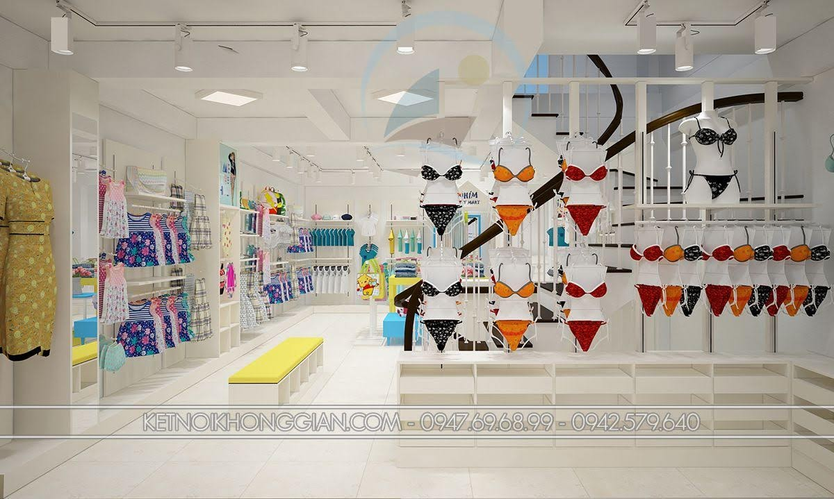 thiết kế shop mẹ và bé hợp lý