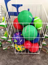 Photo: Huge bin of balls, should get some for my kids!