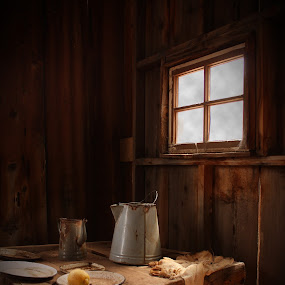 Still life of the old ages by Anne-Cecile Pflieger - Artistic Objects Still Life ( annececilegraphic, cloth, hut, food, house, ages )