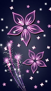 Beautiful Flowers Glowing Live Wallpapers - náhled