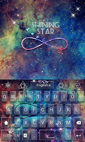 android Shining Star GO Keyboard Theme Screenshot 4