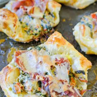 Ham, Spinach + Cheese Puffs.