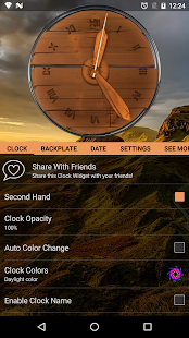Wood Clock Widget for Android - náhled
