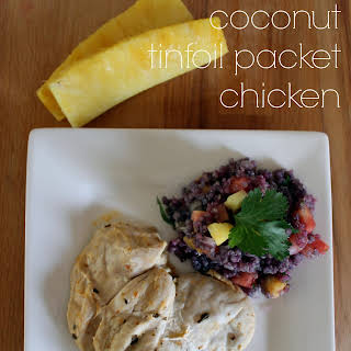 Pineapple Coconut Tinfoil Packet Chicken.