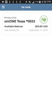 smiONE Texas Visa Prepaid Card screenshot 1