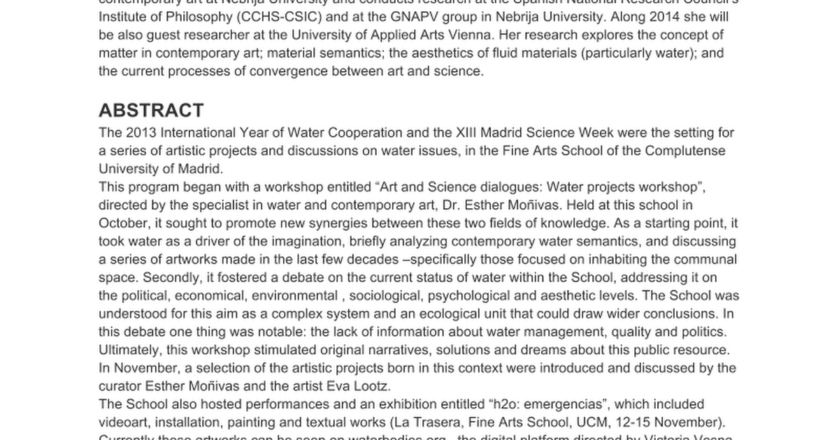 h2o: emergencias - Google Docs