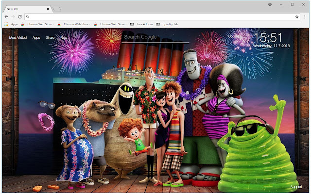 Hotel Transylvania 3 HD Wallpapers New Tab