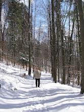 Photo: C4010013 Krynica - juz kwiecien a tu snieg