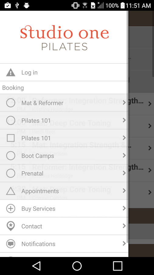 Studio One Pilates- screenshot
