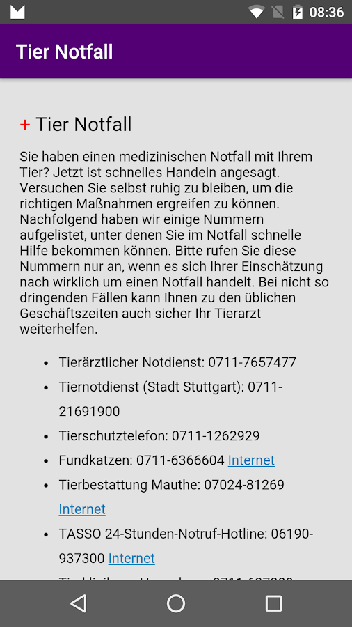 Tierheim Stuttgart- screenshot