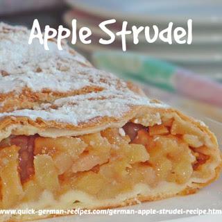 German Apple Strudel.