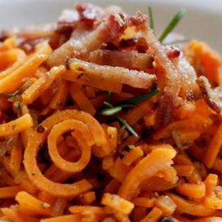 Paleo Sweet Potato Noodles with Rosemary, Bacon, and Pecans