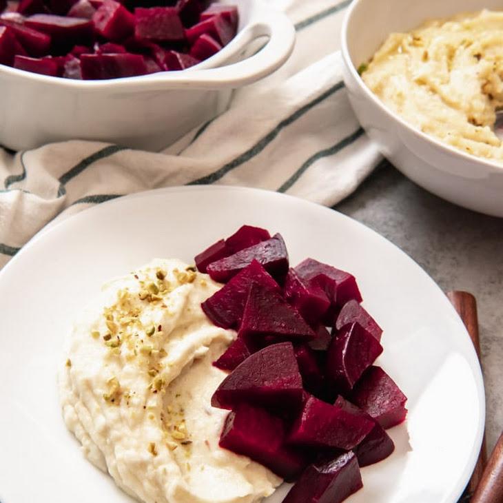 Pantzaria Me Skordalia (Roasted Beets with Garlic-Potato Spread) Recipe