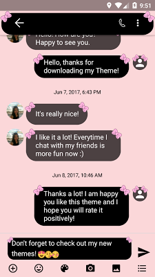 SMS Messages Bow Pink Pastel - screenshot