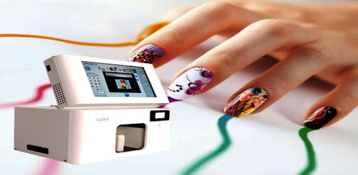 It is an app that enables you to try nail art with your favorite photos&images