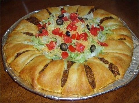 Crescent Taco Ring Recipe