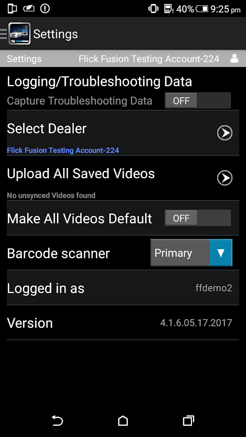 Video Inventory Mobile Manager- screenshot