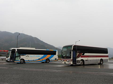 阪急バス「よさこい号」 2891 吉野川SA休憩中