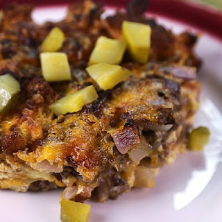 Burger Bread Pudding