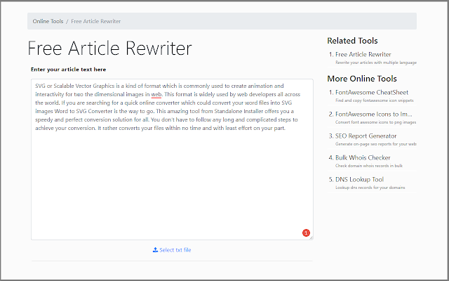Free Article Rewriter - Cửa hàng Chrome trực tuyến