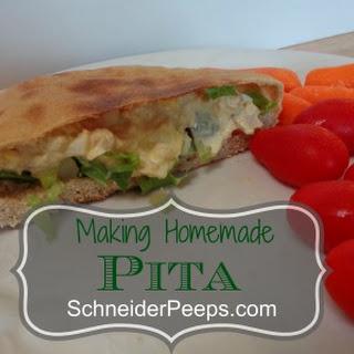 Making Pita.