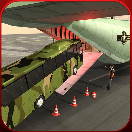 Cargo Plane Army Coach Bus Simulator