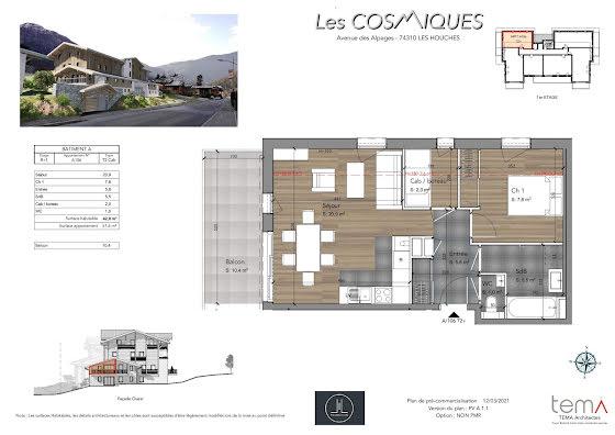 Vente appartement 3 pièces 51,6 m2