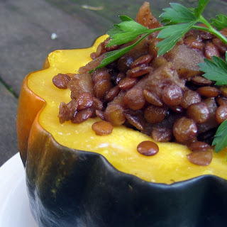 Lentils and Apples with Acorn Squash